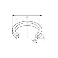 Кольцо уплотнительное прямоугольного сечения 26-34-3
